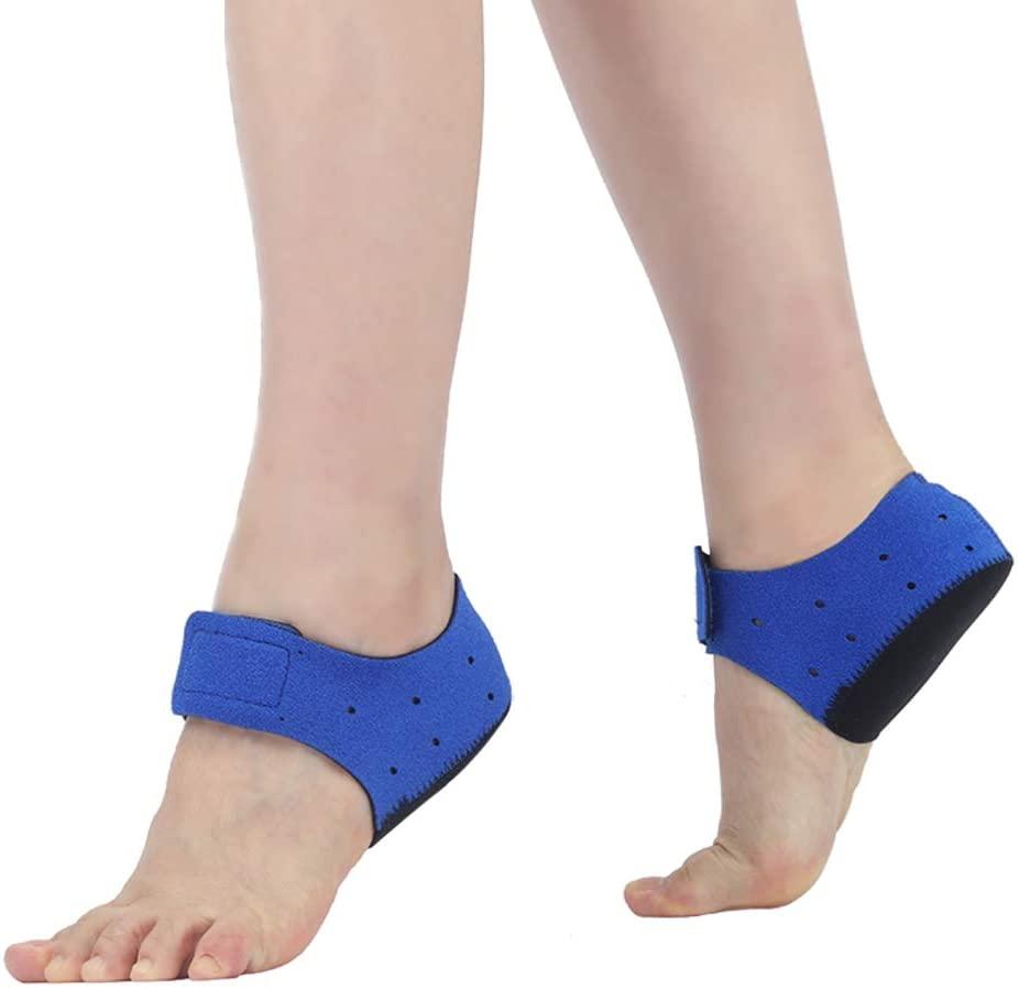XGXQBS Gel Heel Sleeve, Heel Wrap Adjustable Breathable Plantar Fasciitis Inserts Heel Protector Heel Cups