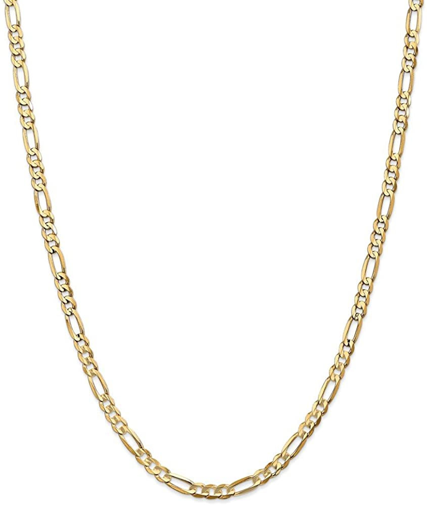 Jewelry Necklaces Chains Leslie's 10k 4.5mm Light Figaro Chain