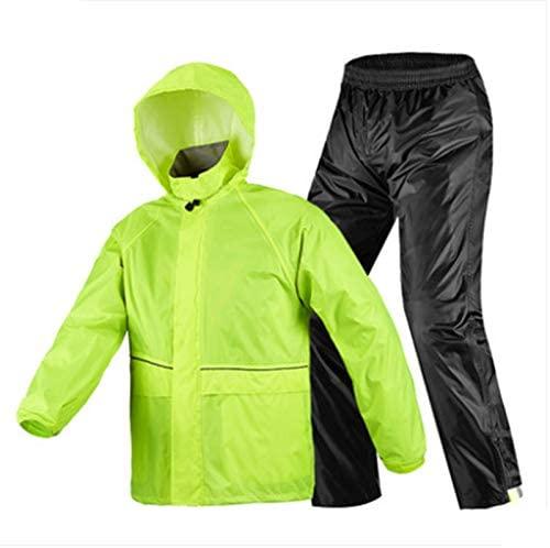ZhaoZenm Motorcycle Raincoat Pants Suit, Man Woman Rain Cape Waterproof Reflective Rainwear