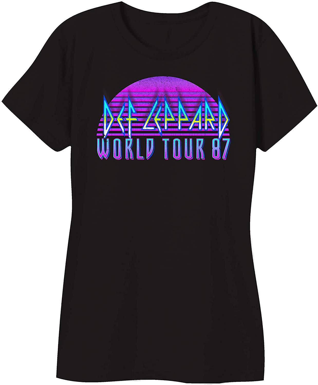 Def Leppard Ladies Rock Shirt - Ladies Classic Rock Fashion Tee Short Sleeve Tee