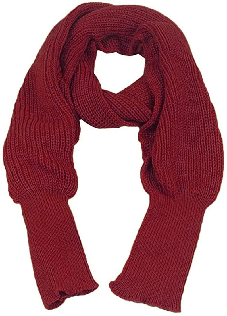Omoone Fashion Unisex Knit Blanket Long Shawl Scarf Wrap Sweater with Sleeves