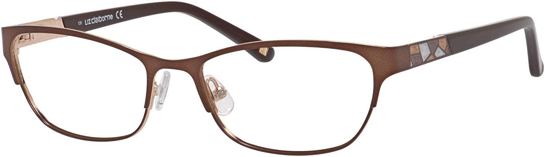 Liz Claiborne Liz Claiborne 624 0RF4 Brown Gold Eyeglasses