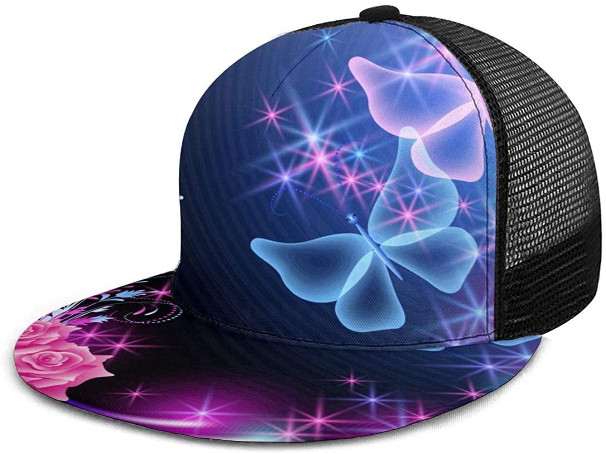 Baseball Cap Mesh Back Marvellous Cartoon Light Multicolor Trucker Hats Adjustable Snapback Sun Cap