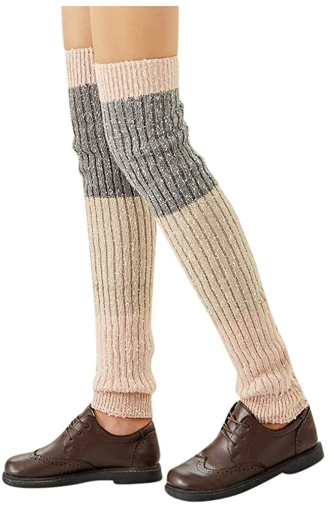 XQXCL Womens Socks Wool Socks Thick Knit Vintage Winter Warm Cozy Crew Socks Gifts Fashion Tube Stockings Above Knee