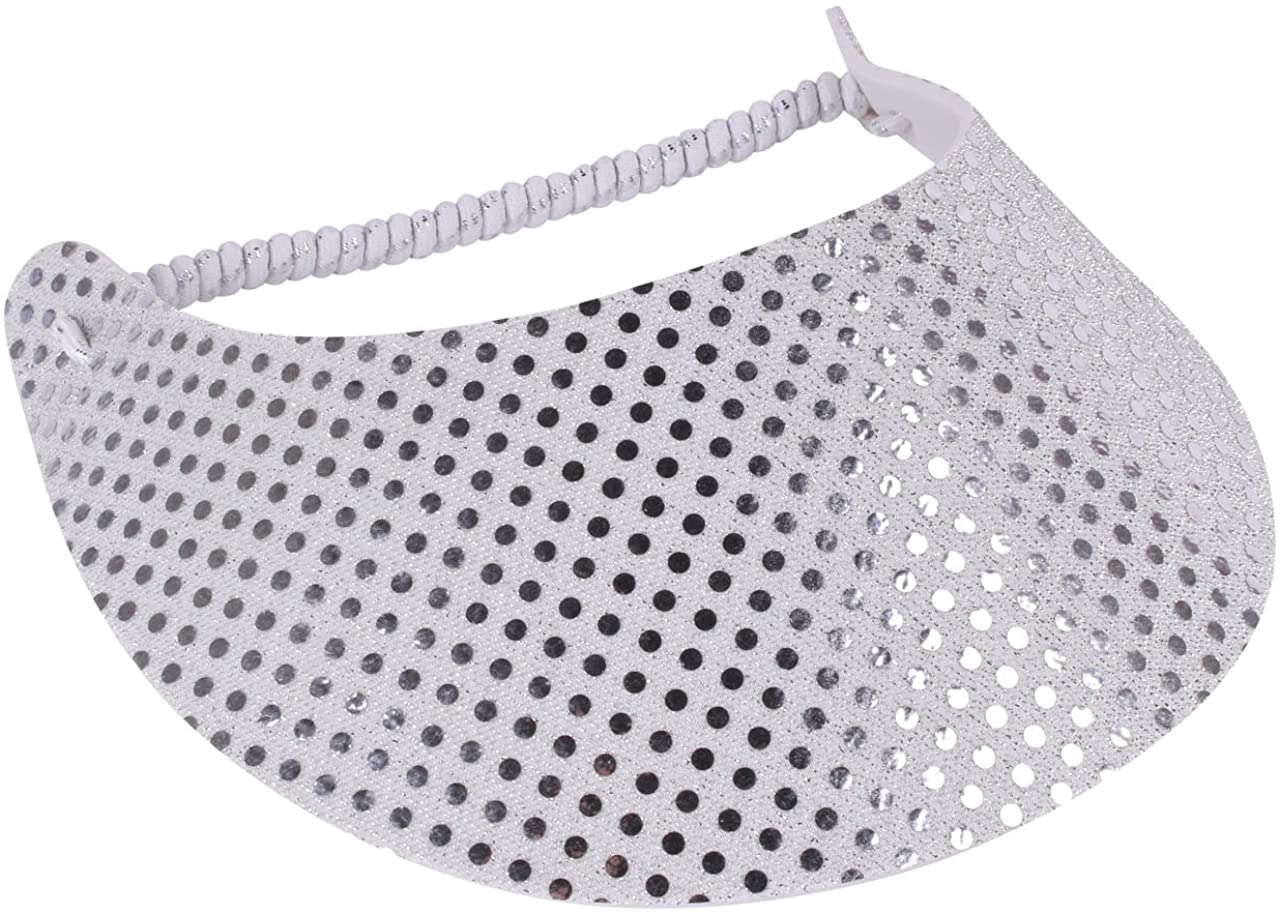 The Incredible Sunvisor Glitzy Design Perfect for The Summer! Made in The USA!!