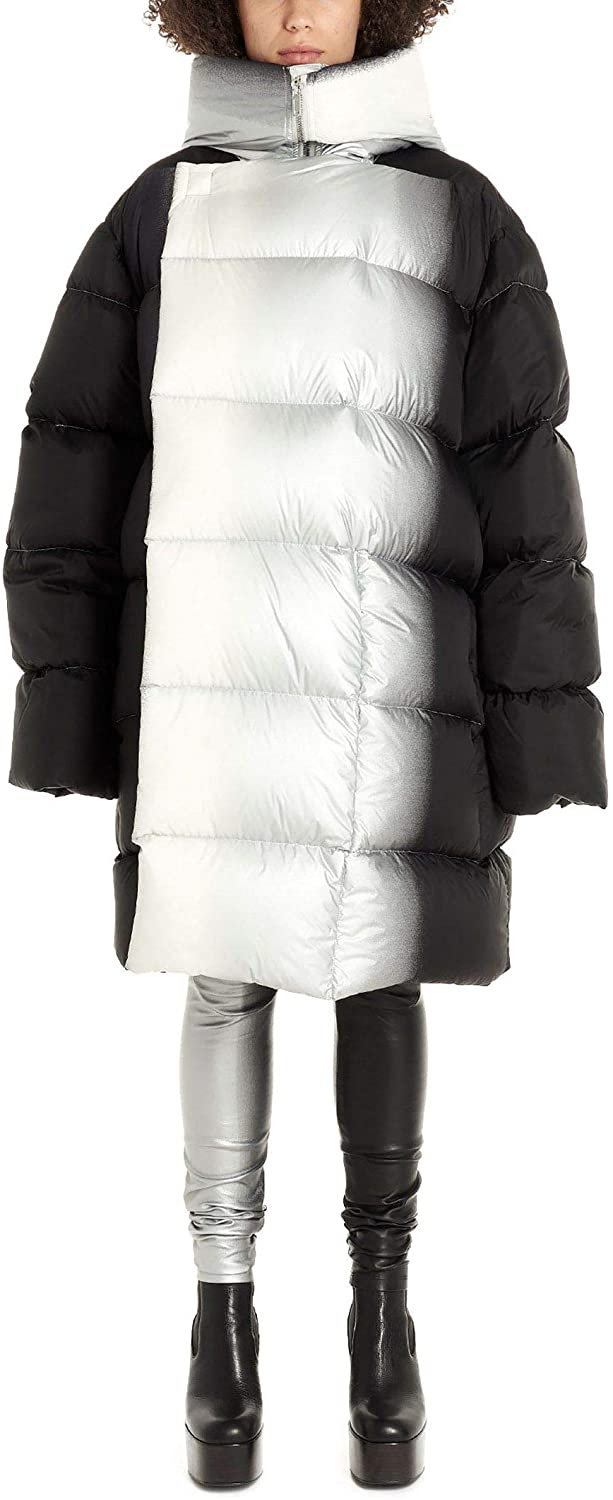 Rick Owens Luxury Fashion Woman RP19F5905NZDD30918 Black Nylon Down Jacket | Fall Winter 19