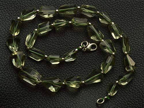 GemAbyss Beads Gemstone 1 Strand Natural 15.5 Inch Natural Gemstone Super Green Amethyst Nuggets Beads Necklace 9 to 17 MM Code-MVG-29462