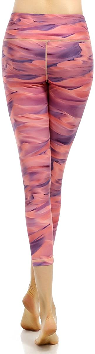 Elasticity Print Sporting Women Compression Pants Rainforest Printing Leggings