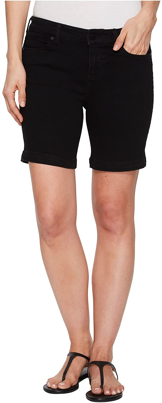Liverpool Womens Kristy Shorts in Soft Stretch Denim in Black Rinse