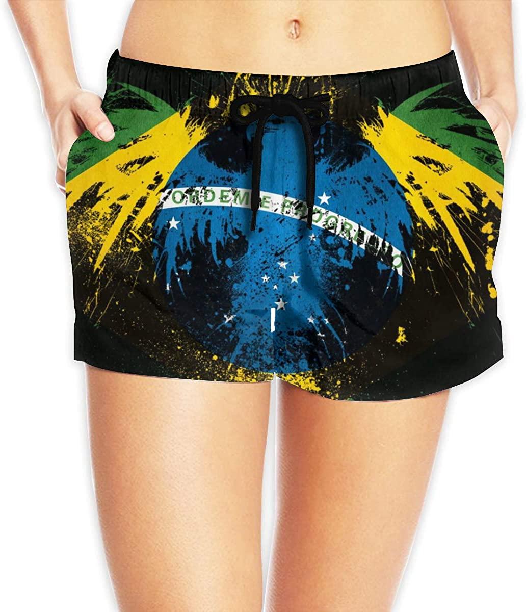 Brazil Flag Bird Women's Female Beach Pants Summer Beachwear Board Shorts