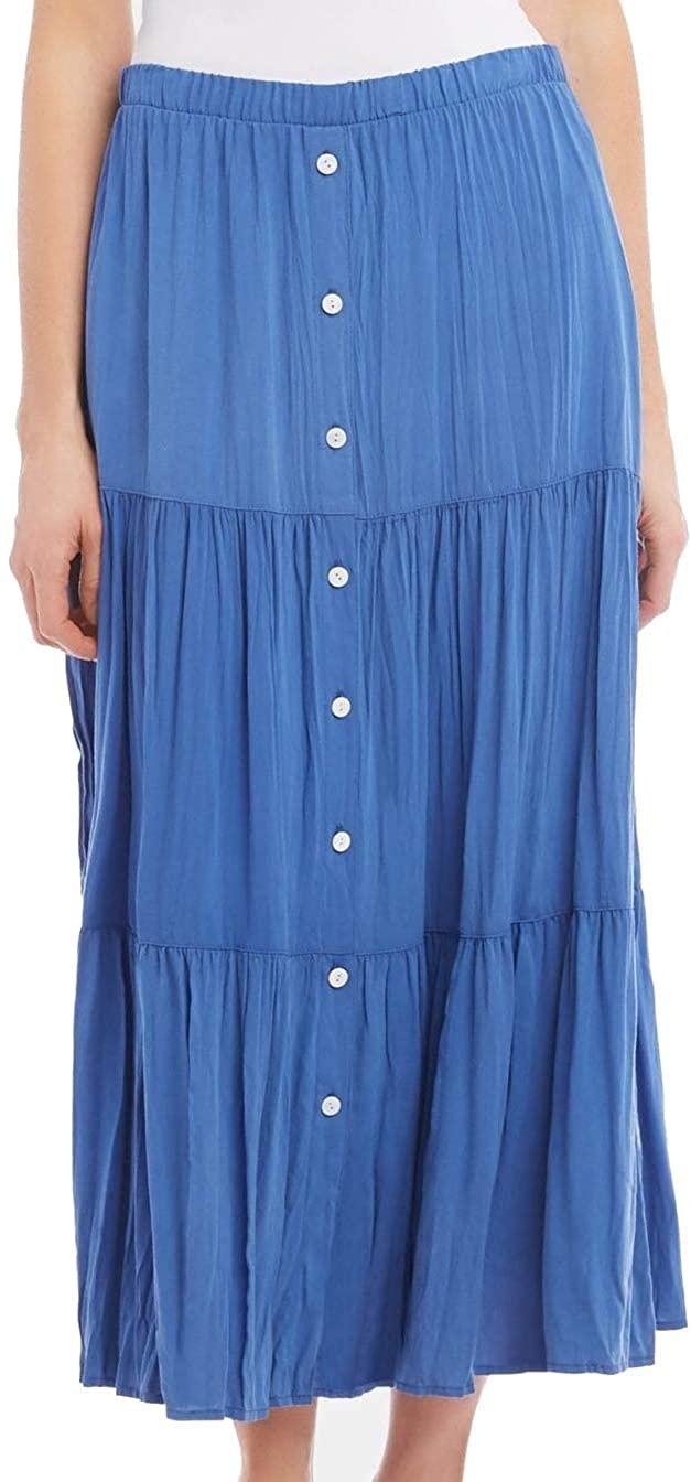 Karen Kane Women's Tiered Midi Skirt