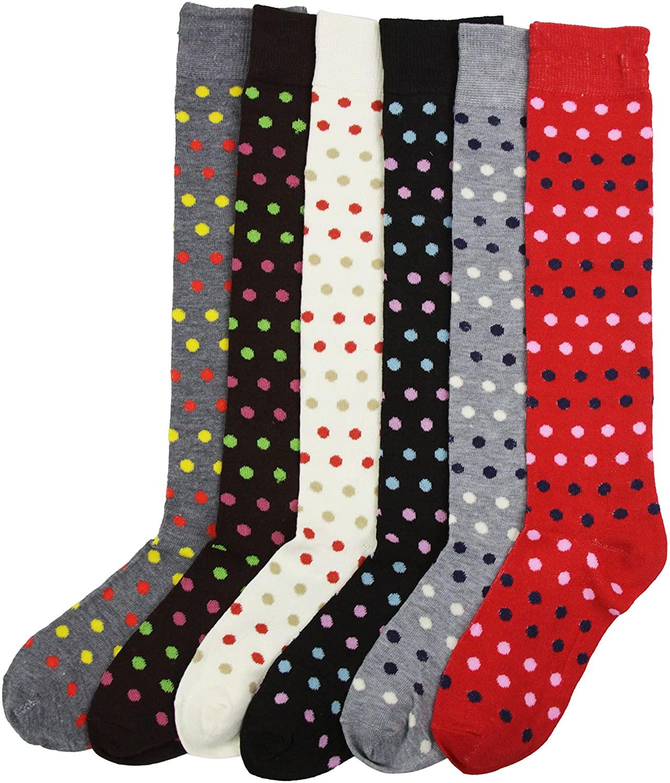 ToBeInStyle Women's Pack of 6 Knee High Socks