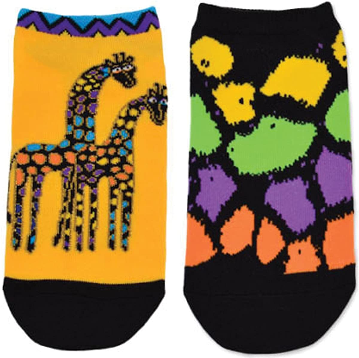 Laurel Burch Womens Giraffes 2 Pair Pack, Honey, 9 -11