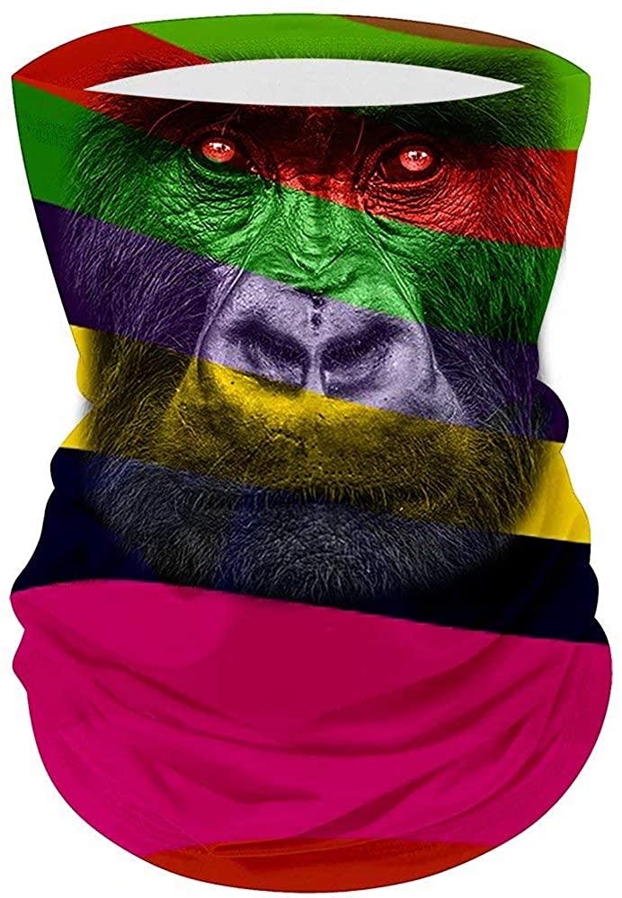 Premium Magic Bandana Windproof Seamless Animal Pattern Gorilla Head MultiScarf