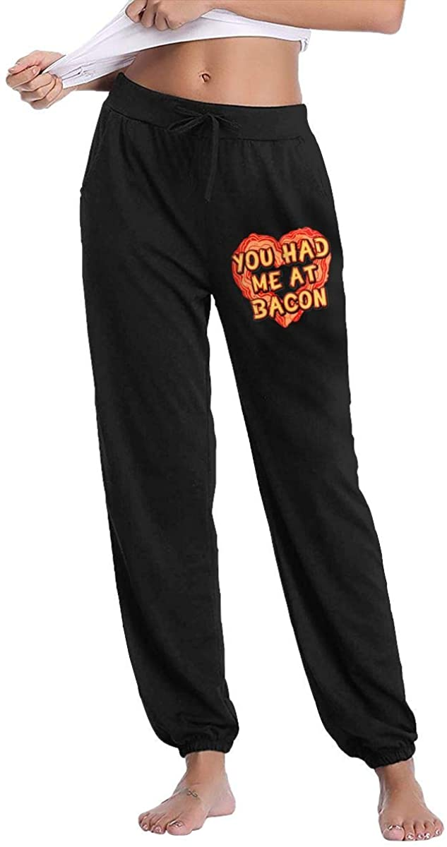 Hjgs Bacon Lover Women's Sweatpants Casual Cotton Jogger Pants with Pockets