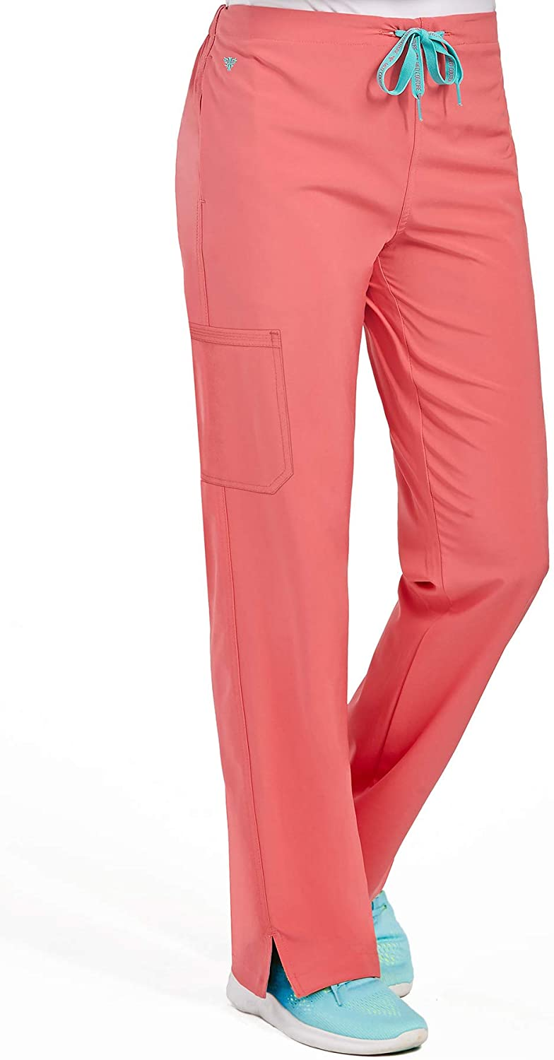 Med Couture Women's Energy One Cargo Pocket Pant, Coral, Large