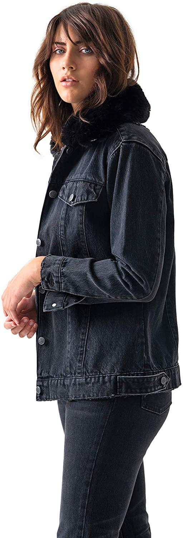 Blue Revival Women's Faux Fur Trucker Jacket