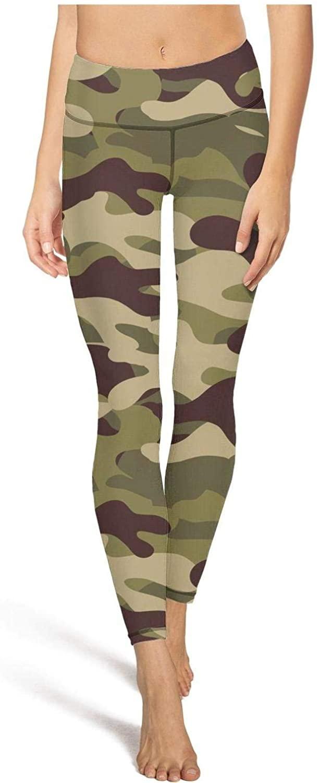 Women Classic Yoga Pants Classic Woodland Fashion Camouflage High Waisted Capris Riding Legging