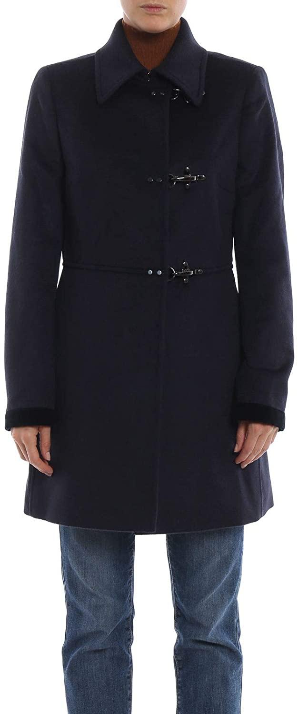 fay Luxury Fashion Woman NAW50374020QAYU807 Blue Viscose Coat | Season Outlet