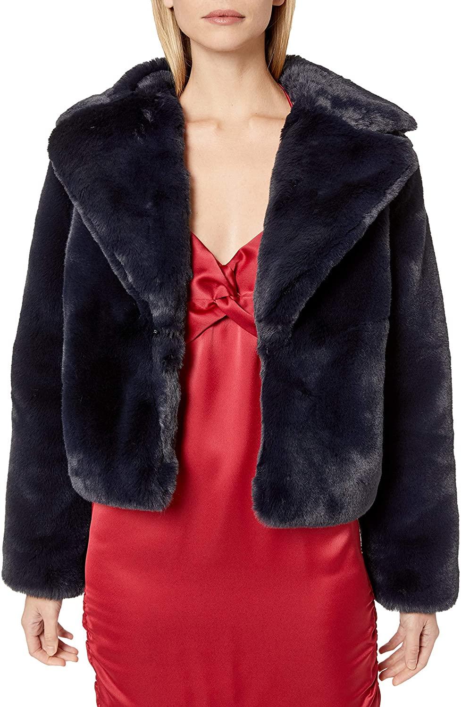 findersKEEPERS Women's Rococo Faux Fur Plush Jacket