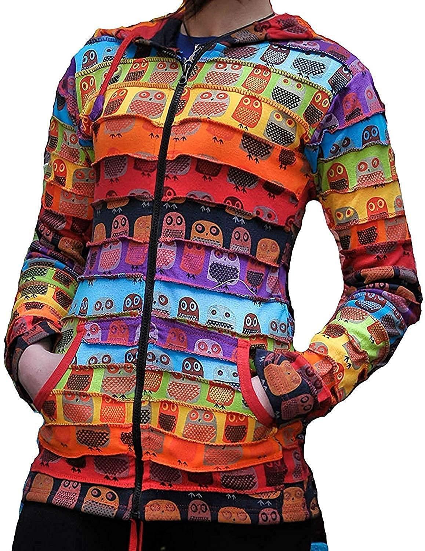 Shopoholic Fashion Women Owl Print Hoodie