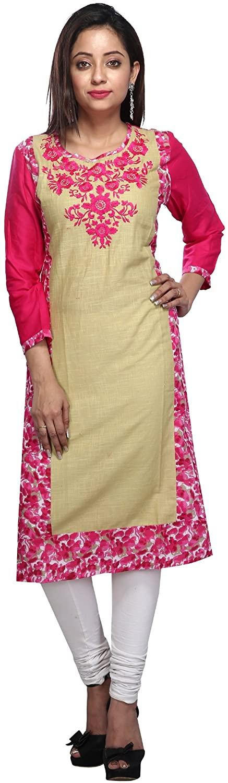Kanan Retail Women's Cotton Embroidered Kurta