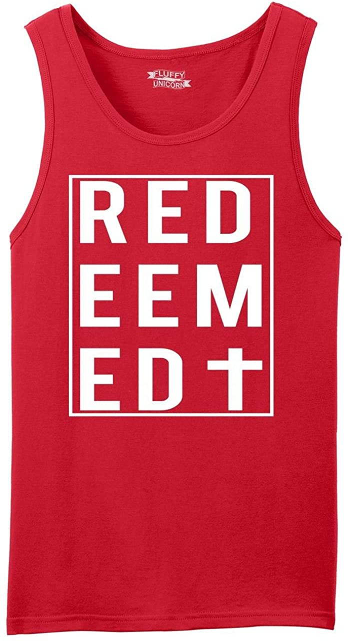 Comical Shirt Men's Redeemed Christian Religious Cross Tee Tank Top