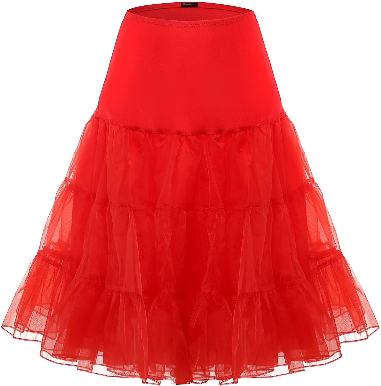 BAOMOSI Vintage Women's 50s Petticoat Skirts Crinoline Tutu Crinoline Underskirts