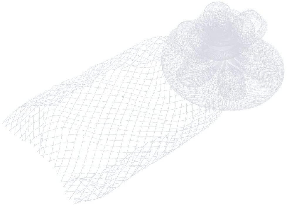 minansostey Kentucky Derby Women Fascinator Hats Big Flower Solid Cocktail Party Hair Clip