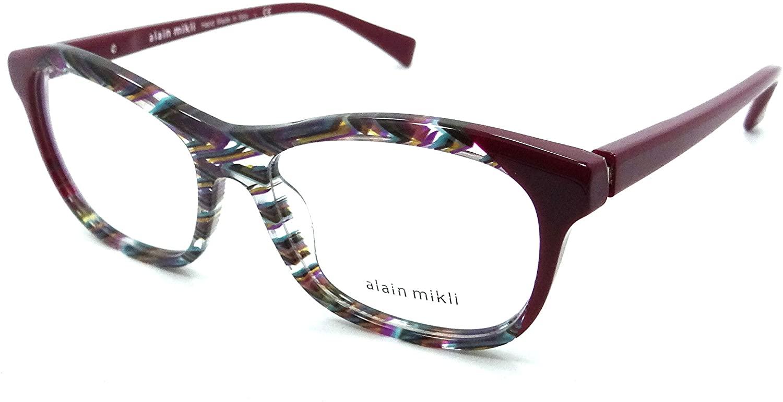 Alain Mikli Rx Eyeglasses Frames A03068 D010 53-16-140 Multicolored Chevron