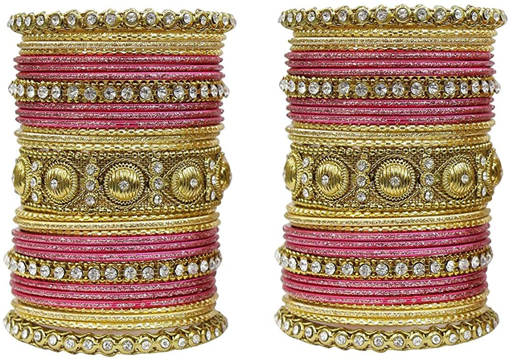 MUCH-MORE Indian Traditional Amazing Collection Multi Color Bracelet Bangles Box for Women