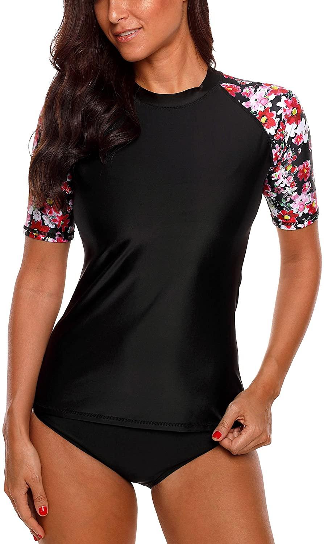 beautyin Women's Rash Guard Short Sleeve Rashguard Sun Protection Shirt UPF 50+