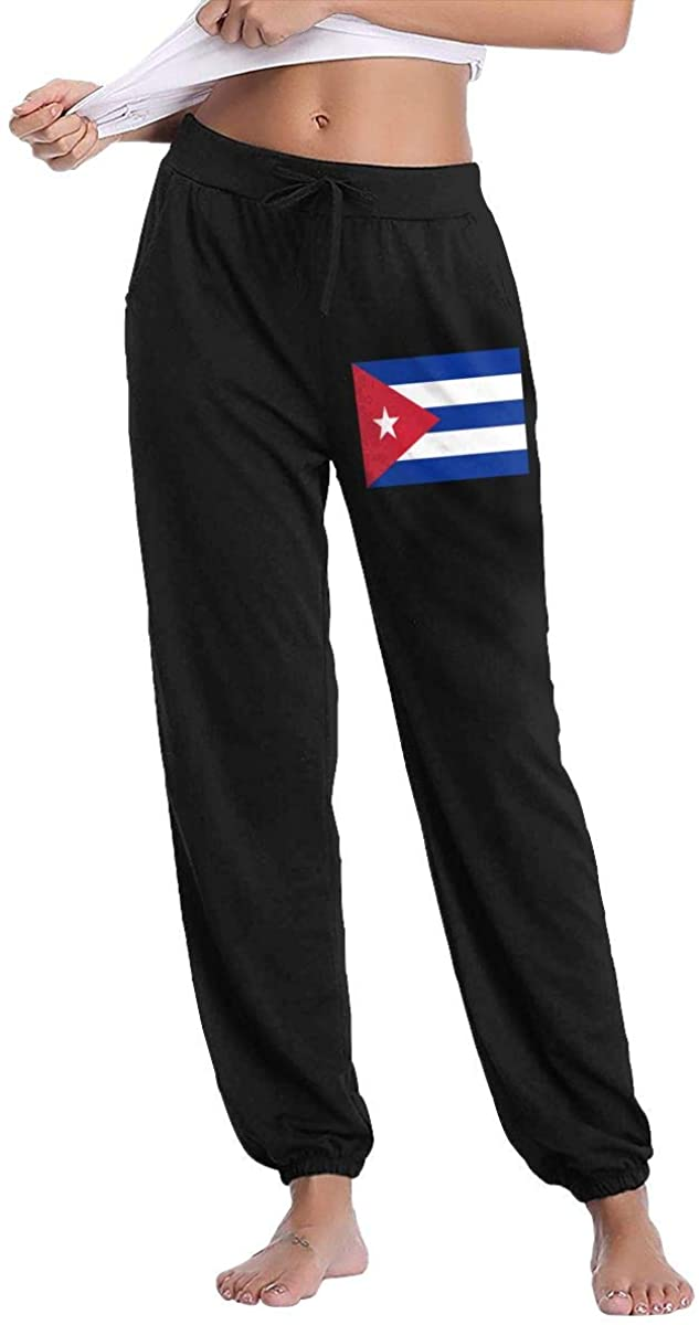 Women's Casual Sweatpants Cuba Flag Fitness Training Jogger Pants