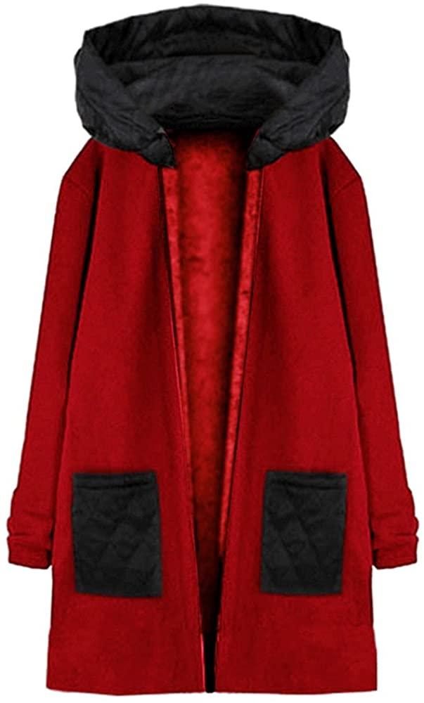 iYBUIA Autumn Winter Cotton Women Fashion Long Sleeve Hooded Coat Jacket Windbreaker Outwear Top