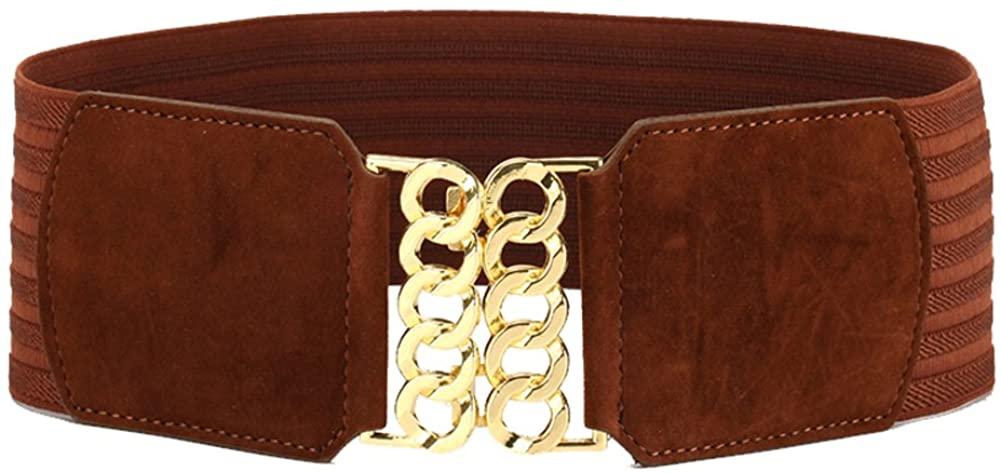 Ladies Suede Width Belt,Of Tightness Stretch Stylish Simple Distribution Dress Belts
