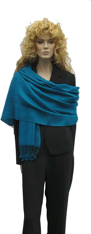Cashmere Pashmina Group: Solid Pashmina Scarf, Shawl, Wrap & Stole(Regular Size) Teal