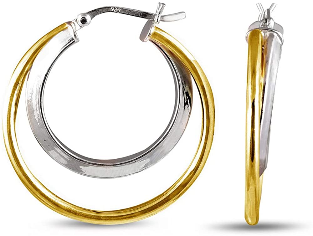 LeCalla Sterling Silver Jewelry Concentric Circles Earring for Women