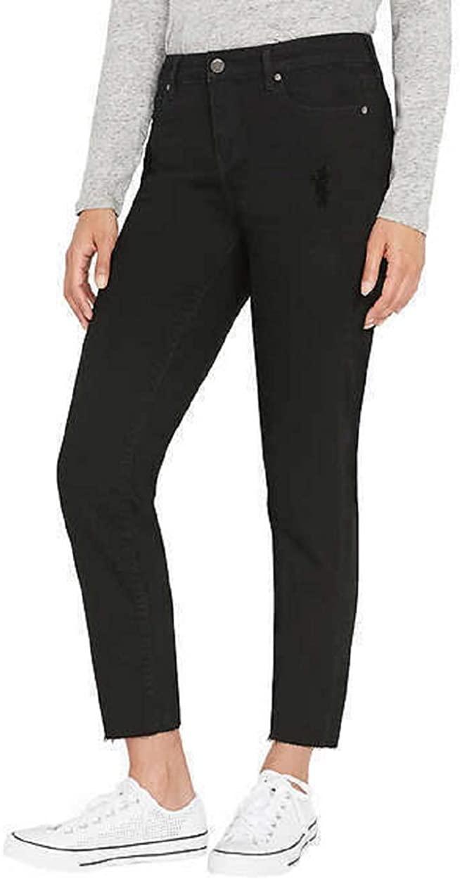 Buffalo David Bitton Ladies' Straight Leg Raw Edge Vintage Denim Jean