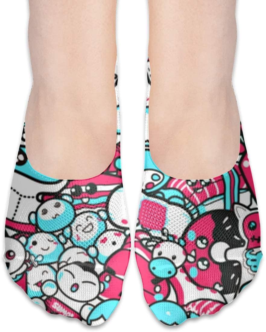 FriendEver No Show Socks,Small Cute Casual Invisible Flat Socks,Breathable Anti-Odor Low Cut Women Cotton Sox,Non Slip Liner Sock