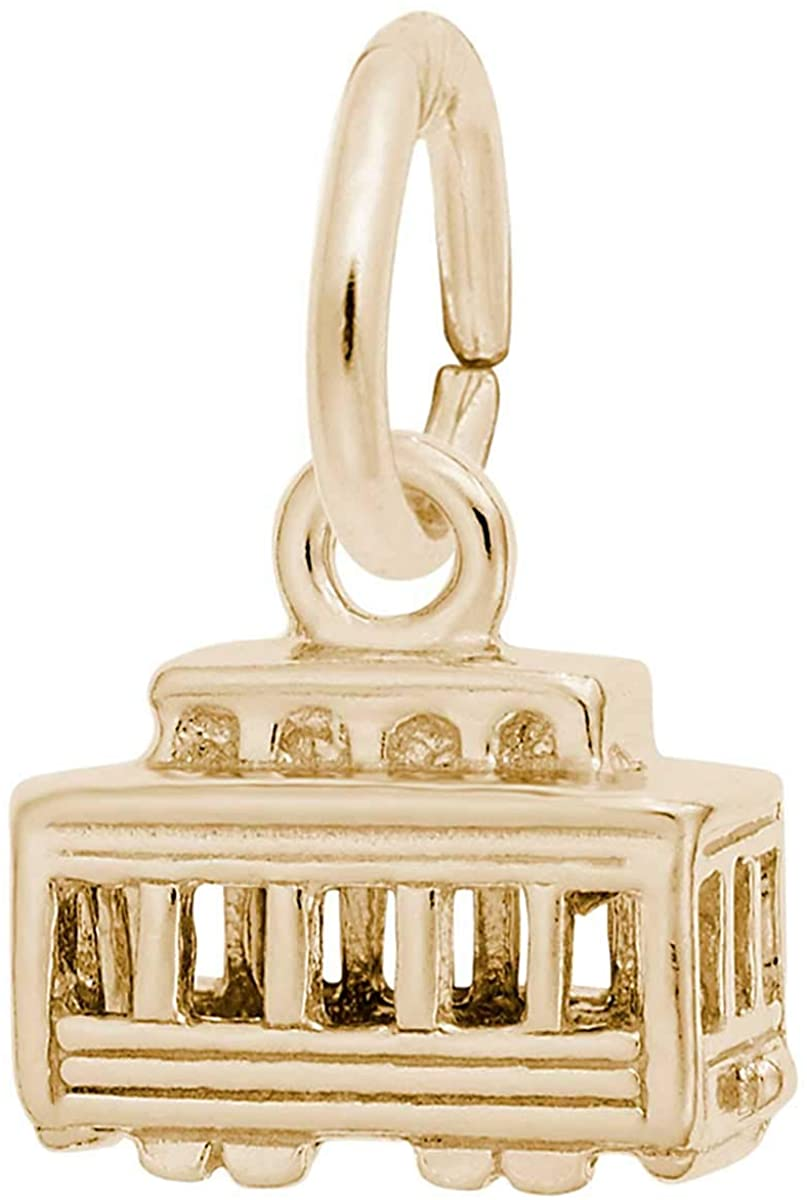 Rembrandt Charms Cable Car Charm, 10K Yellow Gold
