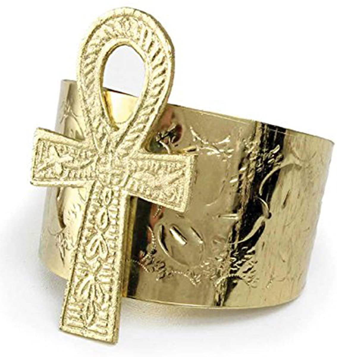 Ankh Cuff: Gold