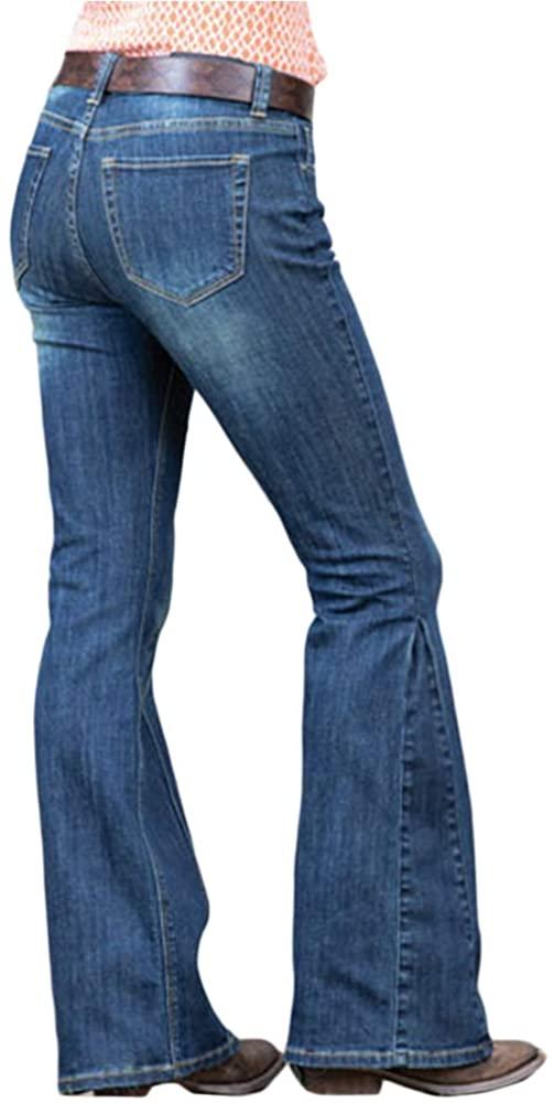 Grace in LA Straight Shooter Flare Jeans 26-34 Blue