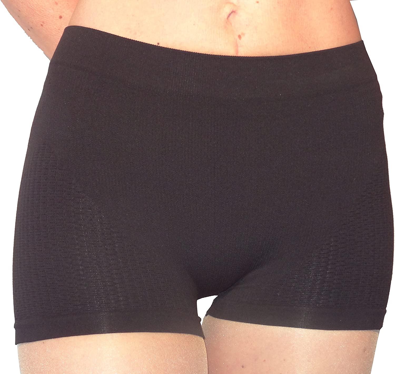 Anti Cellulite Slimming minishort Pants + Silver - Black Tg. L