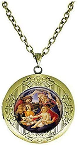 Our Lady of Guadalupe Locket Necklace Sacred Heart Virgin Mary Religious Catholic Jewelry Art Pendant Gift