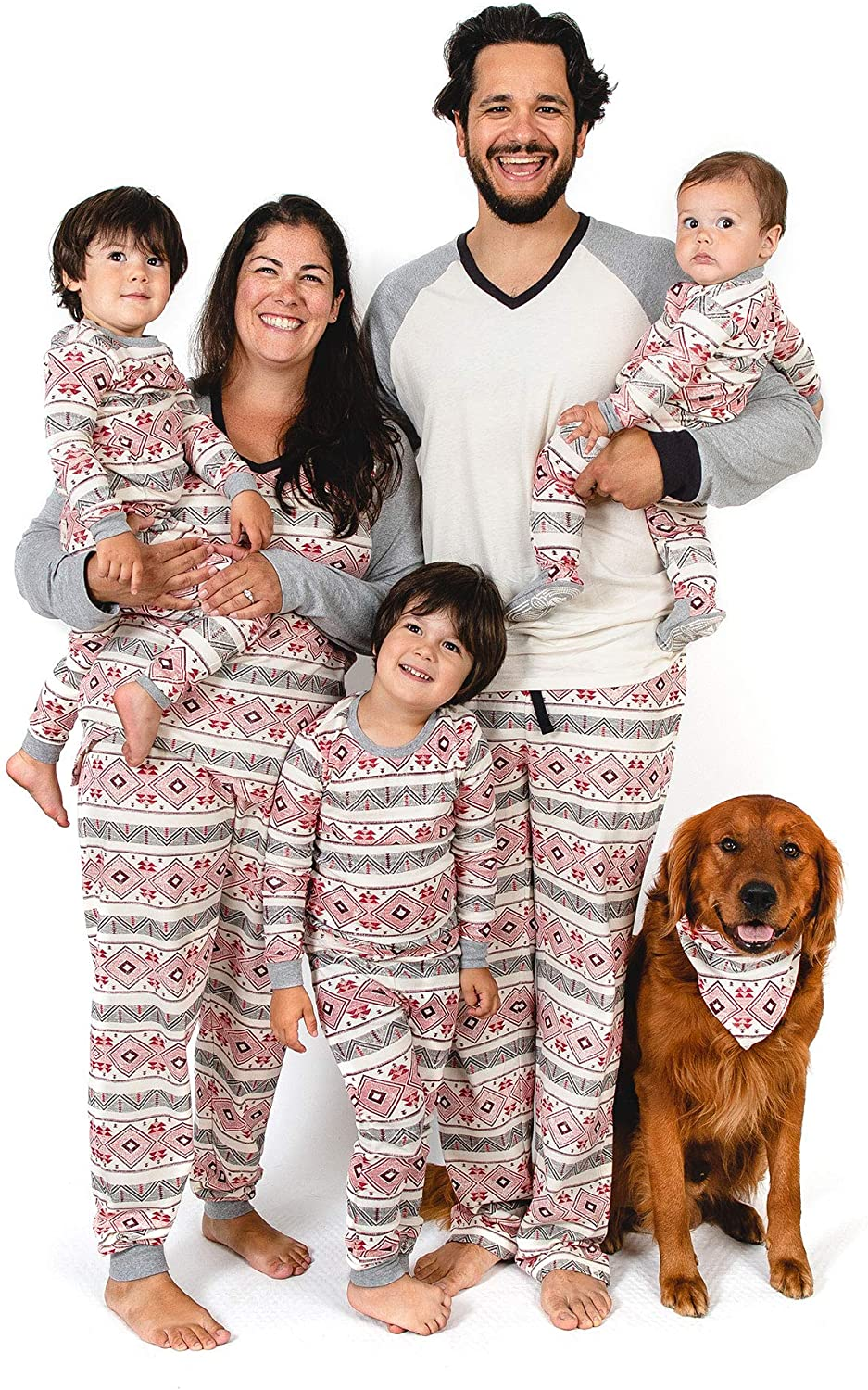 Burt's Bees Baby Family Jammies, Holiday Matching Pajamas, 100% Organic Cotton PJs, Aspen Cabin, Womens Small