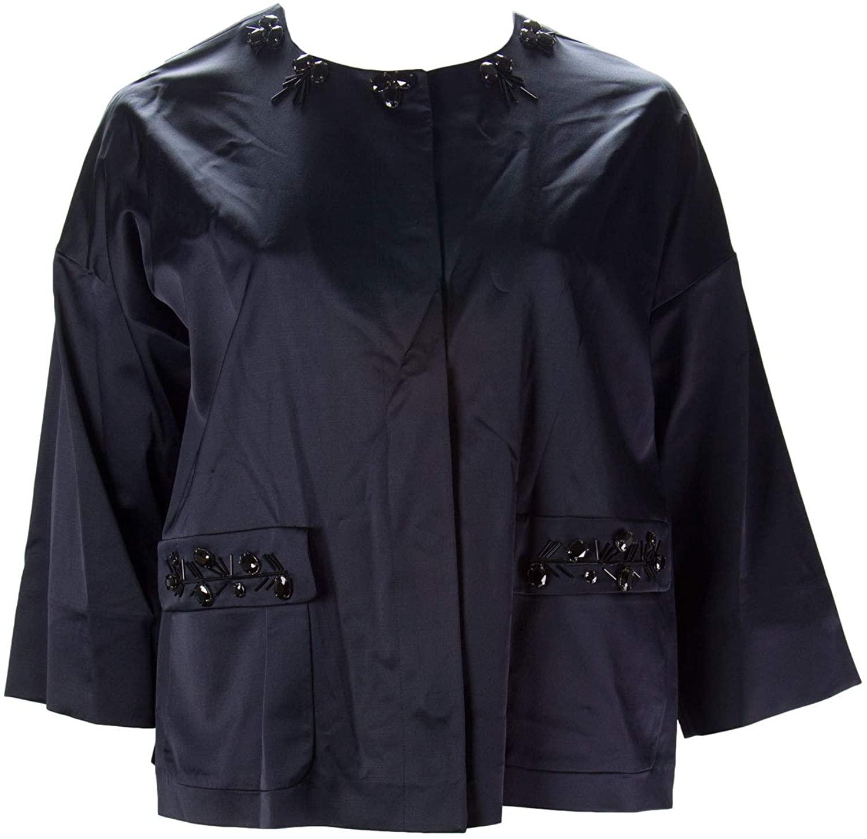 Marina Rinaldi Women's Favola Embellished Jacket, Dark Navy, 12W / 21