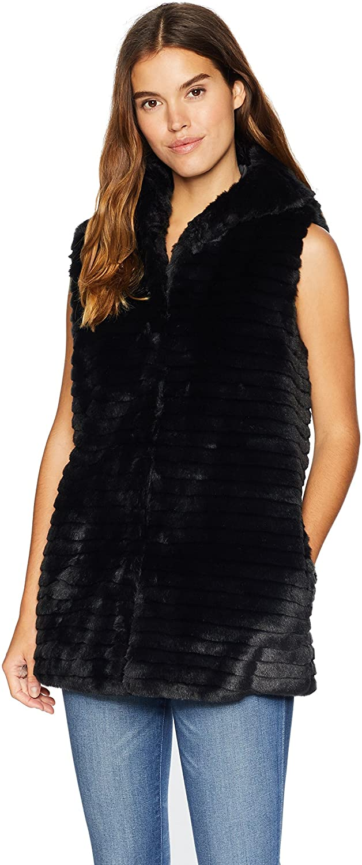 Nanette Lepore Womens Vegan Fur Coat