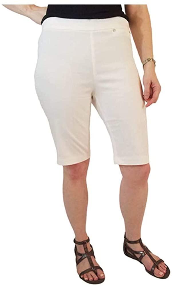 Rafaella Womens Size 18 Comfort Pull-On Stretch Bermuda Shorts, Snow White