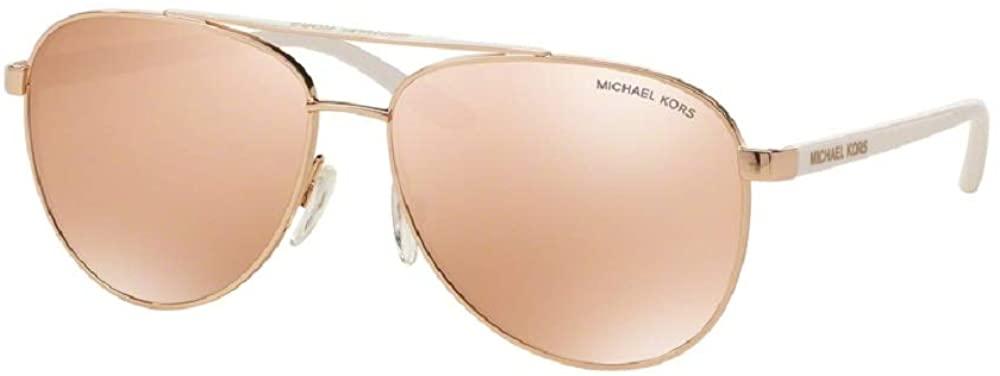 Michael Kors MK5007 HVAR Aviator Sunglasses For Women+ FREE Complimentary Eyewear Care Kit
