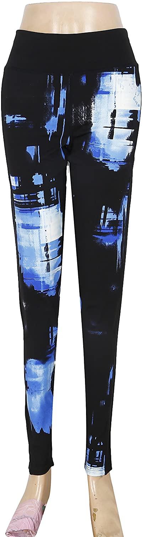 Yoga Power Flex Dry-Fit Workout Leggings with Mesh Print Pants